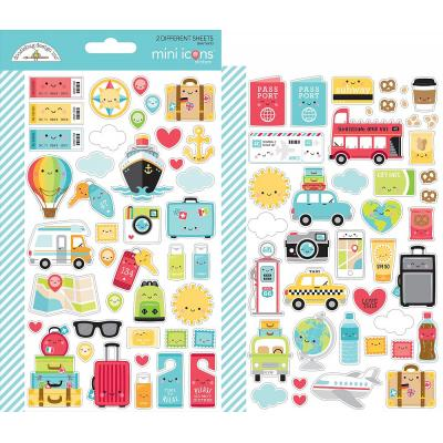 Doodlebugs I Love Travel - Mini Icon Sticker
